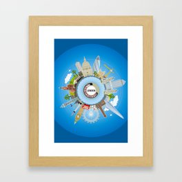 ALL AROUND LONDON - COLOUR Framed Art Print