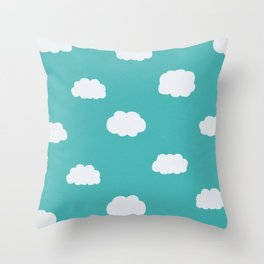 Cartoon Clouds Pattern Throw Pillow