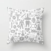 medical Throw Pillows featuring Medical background by aleksander1
