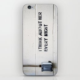 I Think About Her Every Night iPhone Skin