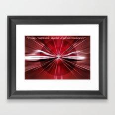High - speed -  data - transmission. Framed Art Print