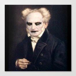 Black Metal Schopenhauer Canvas Print