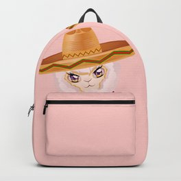 Cute Alpaca in Sombrero Backpack