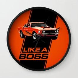 1969 Mustang Boss 429 - Like a Boss! Wall Clock