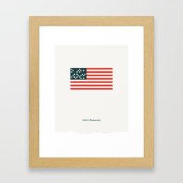 America: Superpowered Framed Art Print