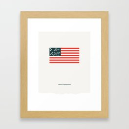 America: Superpowered Framed Art Print
