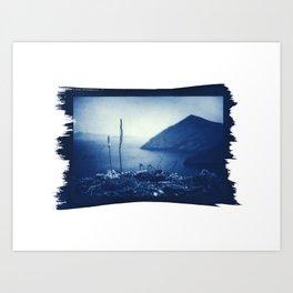 "Cyanotype on Paper  ""SEA VIEW"" Art Print"