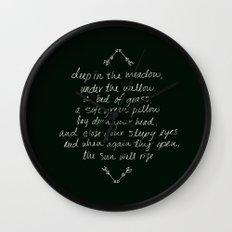 Rue's Song Wall Clock