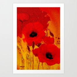 FLOWERS - Mellow yellow Art Print