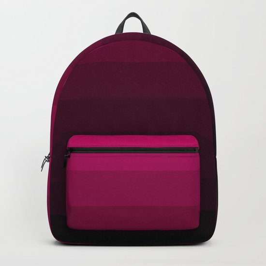 Black and Burgundy Ombre striped Backpack