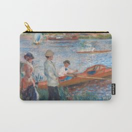 Oarsmen at Chatou Painting by Auguste Renoir Carry-All Pouch