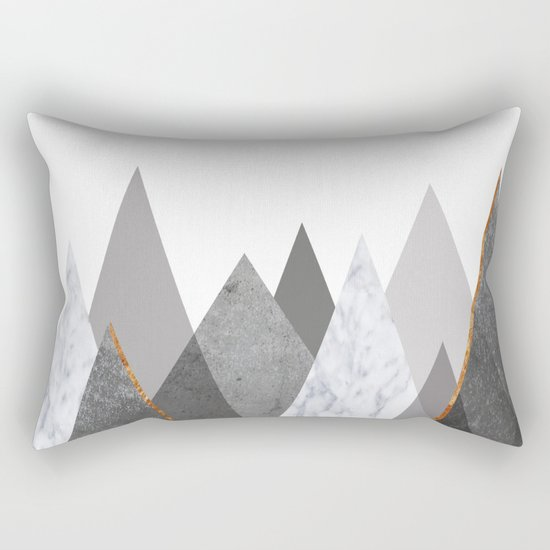 Marble Gray Copper Black and White Mountains by marilenaxiari