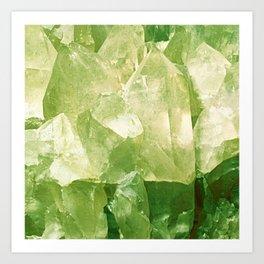 Green Gems Art Print