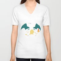 charizard V-neck T-shirts featuring Charizard by SEANLAR94