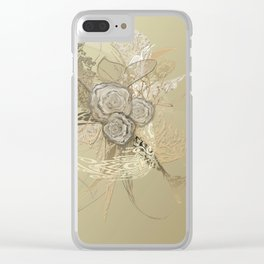 50 Shades of lace Gold Gold Clear iPhone Case