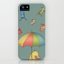 It's raining cats and dogs iPhone Case