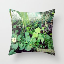 The Garden Fairy is Busy at Work Throw Pillow