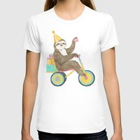 birthday T-shirts featuring birthday sloth by Laura Graves
