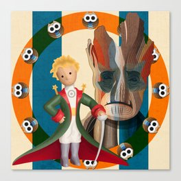 The Little Prince, Groot and owls  Canvas Print