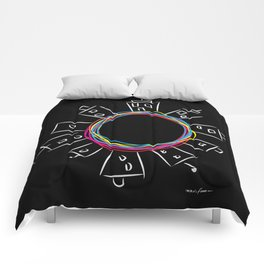 Only in the center Comforters