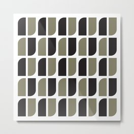 Geometric Pattern #41 (black gray) Metal Print