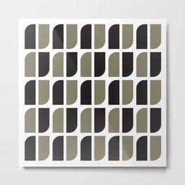 Geometric Pattern #41 (black gray) Metal Print