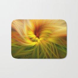 Sunflowers Twirled Bath Mat