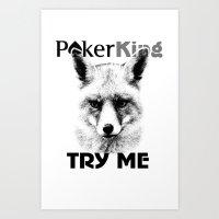 poker Art Prints featuring poker king by Roman Belov