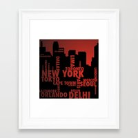 cities Framed Art Prints featuring Cities by Colin Webber
