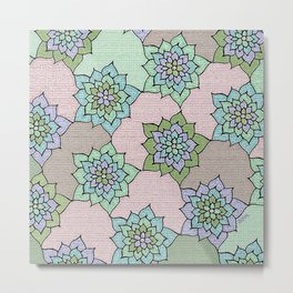zakiaz lotus design Metal Print