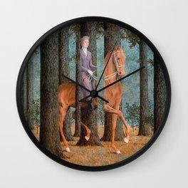 Rene Magritte La Corde Sensible Wall Clock