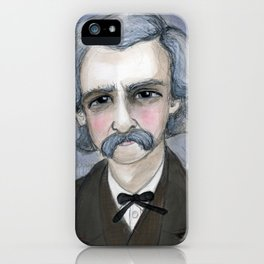 The Adventures of Mark Twain, A Victorian Writers Portrait iPhone Case