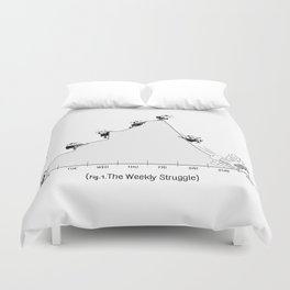 The Weekly Struggle Duvet Cover