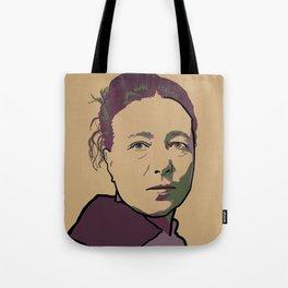 Simone de Beauvoir Tote Bag