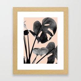 Monstera Vibes #3 #minimal #decor #art #society6 Framed Art Print