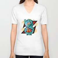 dbz V-neck T-shirts featuring DBZ - A Hero by Mr. Stonebanks