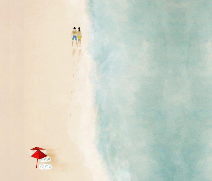 lets walk with the sea you and me Metal Travel Mug