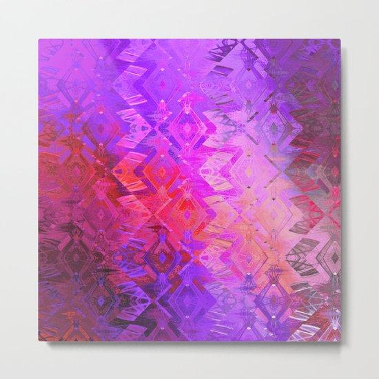 Edged Momentum (purple) Metal Print