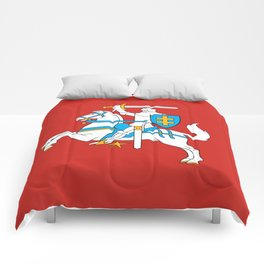 State Flag of Lithuania Knight On Red Comforters