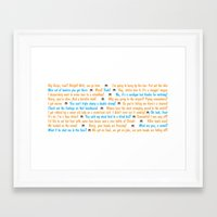 dumb and dumber Framed Art Prints featuring Dumb and Dumber Quotes by Dr. Spaceman40