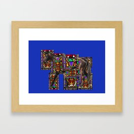 Walking Horse Framed Art Print
