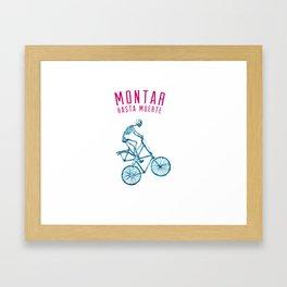 """Skeleton Bike - """"Montar Hasta Muerte"""" Framed Art Print"""