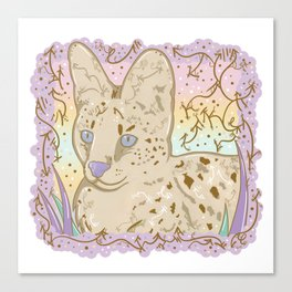 Pretty Little Serval Canvas Print