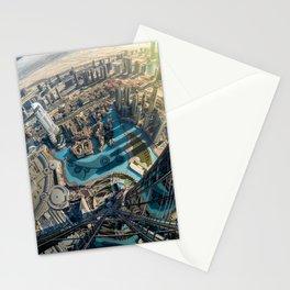 On top of the world, Burj Khalifa, Dubai, UAE Stationery Cards
