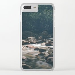Rocky Brook from Sabbaday Falls Clear iPhone Case