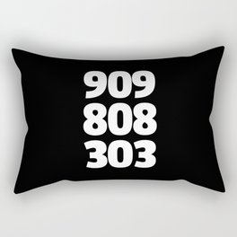 909/808/303 Dance Music Quote Rectangular Pillow