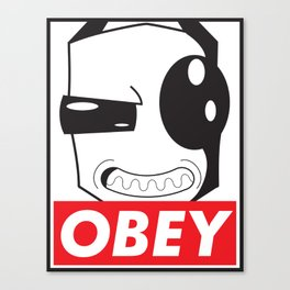 Obey Zim Canvas Print