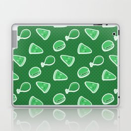 Pizza Burgers and Fried Chicken Time Picnic on Green Laptop & iPad Skin