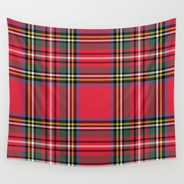 Red & Green Tartan Pattern Wall Tapestry