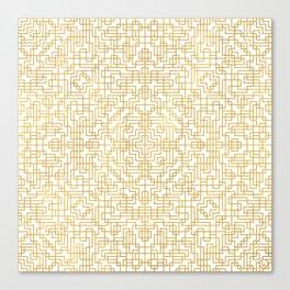 Geometric Symmetry Gold 2 Canvas Print
